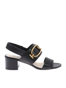 Tod's - Sandals in black with metal detail