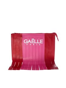 Gaelle Paris - Gaelle Paris fringed clutch bag with red and pink