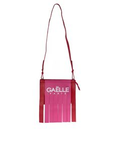 Gaelle Paris - Fringed shoulder bag with red and pink