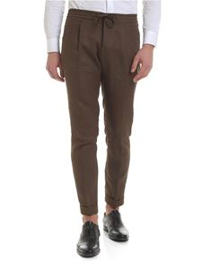 Paolo Pecora - Brown pure linen trousers