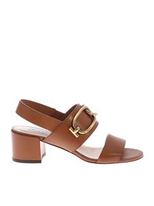 Tod's - Sandals in brown with metal detail