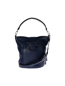 Tod's - Double T bag in blue leather