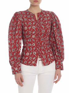 Isabel Marant Étoile - Camicia Tilo in lino stampa floreale