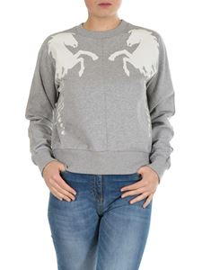 Chloé - Maschile sweatshirt in grey with horses print