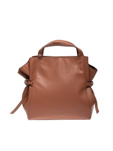 Orciani - Fan large handbag in brown leather