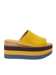 Paloma Barceló - Aiko slides in yellow leather