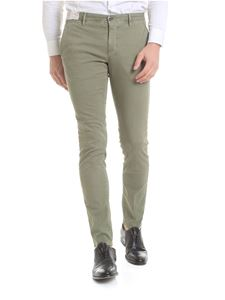 Incotex - Olive green woven trousers