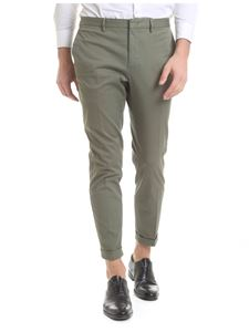 Incotex - Olive green stretch cotton trousers