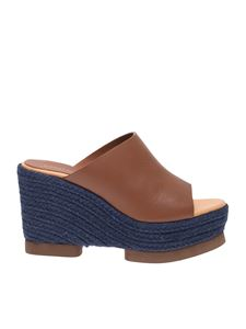 Paloma Barceló - Hanako wedge sandals in brown