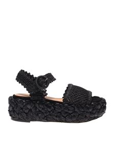 Paloma Barceló - Oda sandals in black raffia
