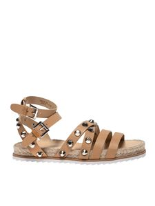 Kendall + Kylie - Bianca sandals in beige leather with studs