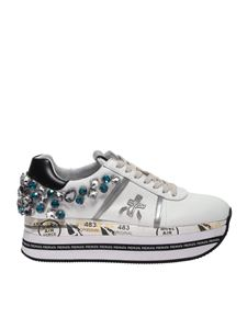 Premiata - Beth sneakers in white with rhinestones