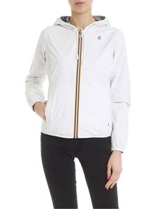 K-way - White Lily Plus Double Graphic reversible jacket