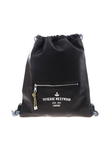 Vivienne Westwood Anglomania - Black leather Hilary backpack