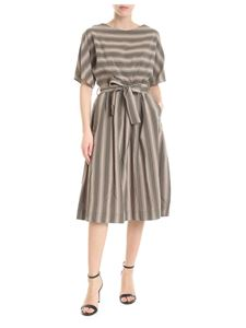 Woolrich - Beige and green Scully Stripe dress