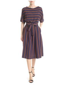 Woolrich - Brown and blue Scully Stripe dress