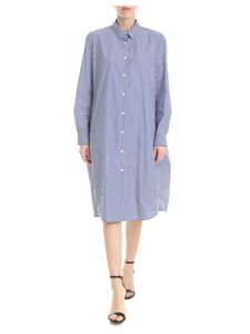 Woolrich - Blue and white Spring Popeline shirt dress