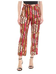Manila Grace - Striped and floral print trousers