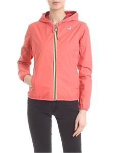K-way - Pink and red reversible Lily Plus Double jacket