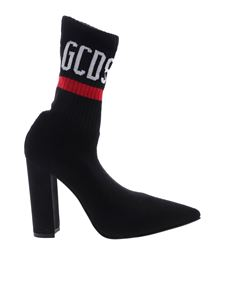 GCDS - Black ankle boots with GCDS logo