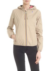 K-way - Beige Lily Plus Double Graphic jacket