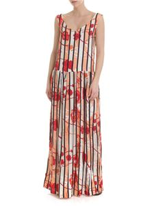 Manila Grace - Long dress with multicolor waistband