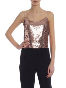 Jucca - Top oro rosa in paillettes