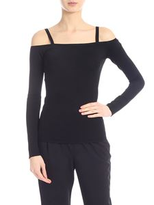 Jucca - Off shoulders T-shirt in black