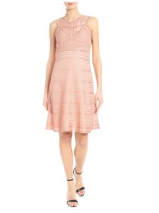 M Missoni - Knitted lamè dress in pink