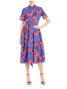 Parosh - Chemisier in electric blue with contrast floral print