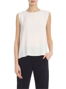Jucca - Boxy top in ivory color with vent