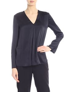 Jucca - Silk satin blouse in black