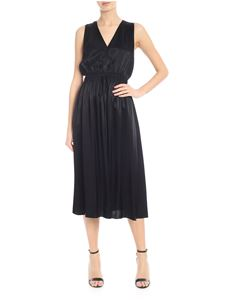 Jucca - Satin midi dress in black