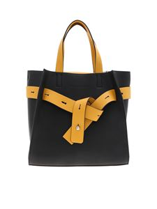 Manila Grace - Marta shoulder bag in black and yellow