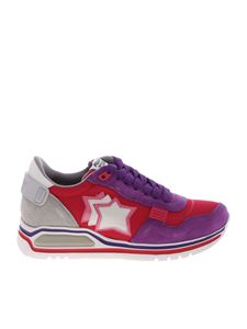 Atlantic Stars - Bright pink and purple Shaka sneakers