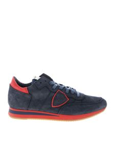 Philippe Model - Tropez L sneakers in blue and red