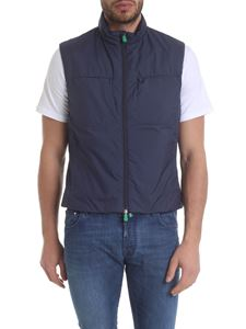 Save the duck - Blue sleeveless down jacket with chest pockets