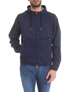 Save the duck - Hooded jacket in blue with reflective details