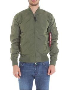 Alpha Industries - MA-1 TT bomber jacket in green with logo details