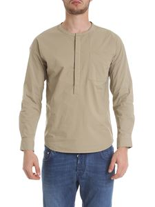 Woolrich - Sand-color serafino shirt with pocket