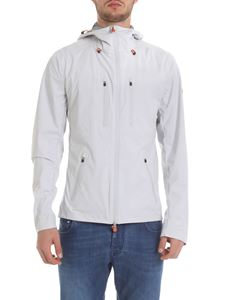 Save the duck - Hooded jacket in beige technical fabric