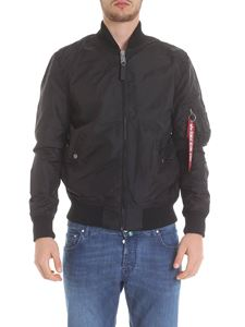 Alpha Industries - MA-1 TT bomber jacket in black with logo details
