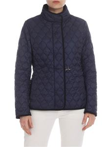 Fay - Quilted down jacket in dark blue technical fabric