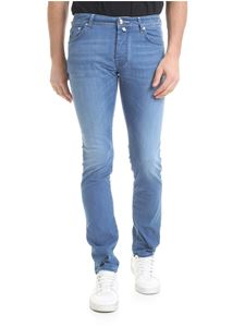 Jacob Cohën - Blue stretch viscose blend jeans