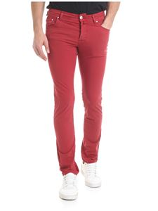 Jacob Cohën - Red stretch cotton trousers