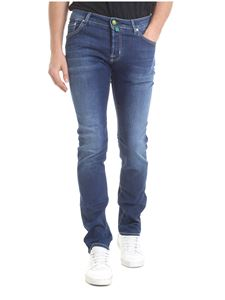 Jacob Cohën - Blue stretch cotton jeans