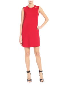 Valentino - Red dress with V logo detail