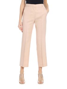 Stella McCartney - Powder pink slim trousers with america pocket
