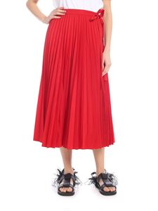 Valentino - Red pleated skirt