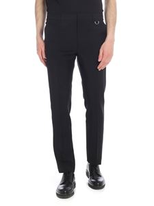 Valentino - Black trousers with side band